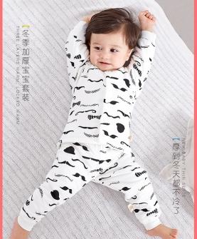 婴儿保暖内衣套装