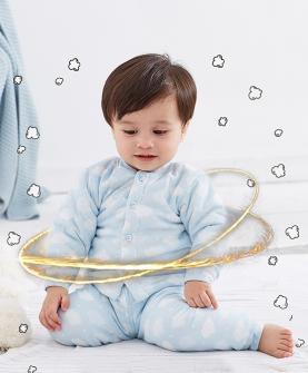 婴幼儿高腰护肚保暖内衣