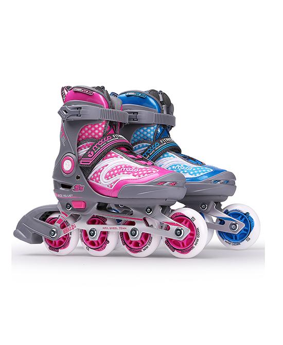 米高儿童闪光旱冰鞋