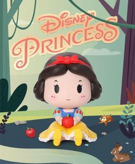 迪士尼公主坐姿盲盒公仔娃娃摆件