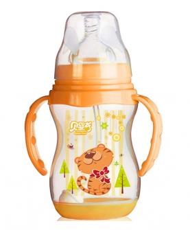 240ml宽口带感温底座奶瓶橙色