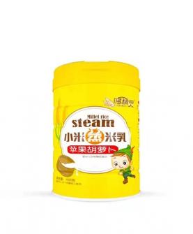 小米蒸米乳-苹果胡萝卜