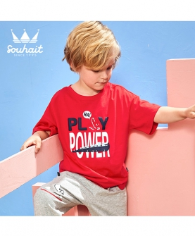 夏季新款儿童短袖圆领T恤