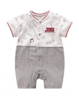 新款婴儿短袖连体衣