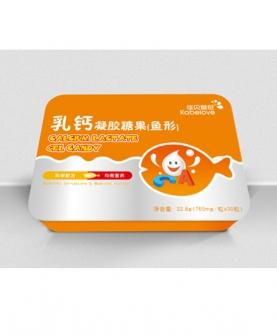 乳钙凝胶糖果(鱼形)