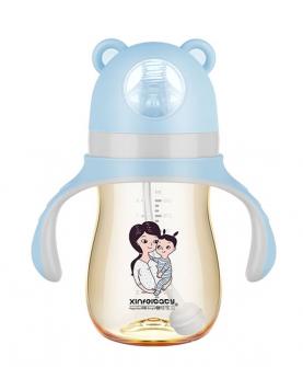 超宽口径PPSU奶瓶240ml蓝色