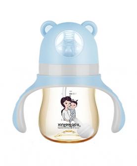 超宽口径PPSU奶瓶180ml蓝色