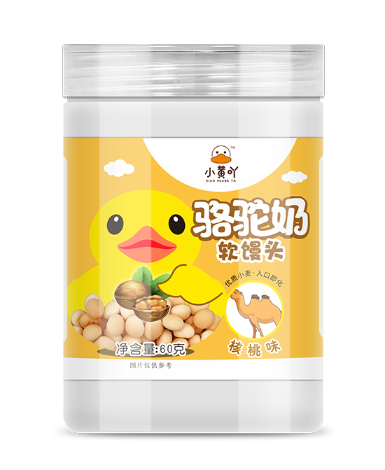 小黃吖駱駝奶軟饅頭核桃味