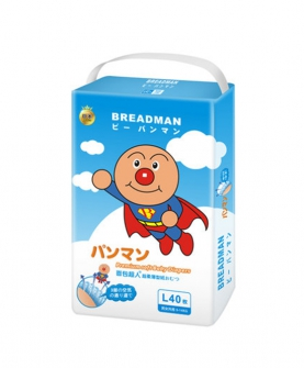 日本面包超人超柔超薄纸尿裤 L码40片