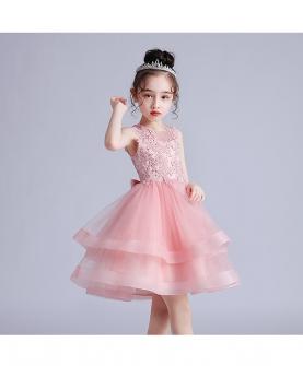 女童装蓬蓬婚纱礼服裙