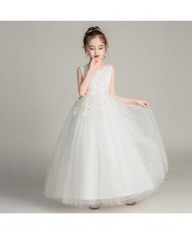 儿童长款婚纱礼服裙