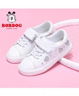 女童鞋子小白鞋