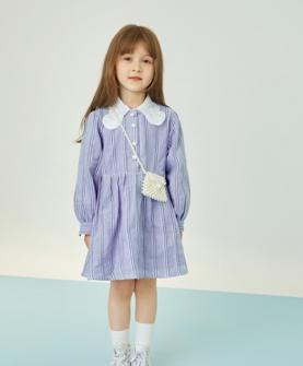 2020秋冬紫色公主连衣裙