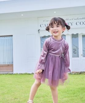 新品紫色淑女连衣裙