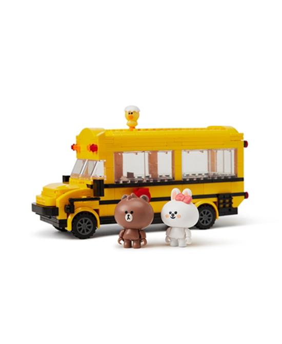 linefriends布朗熊和朋友们 拼装玩具车