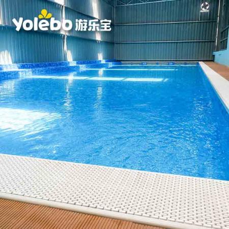 吉林半标式室外露天泳池小区成人游泳池戏水池钢结构泳池