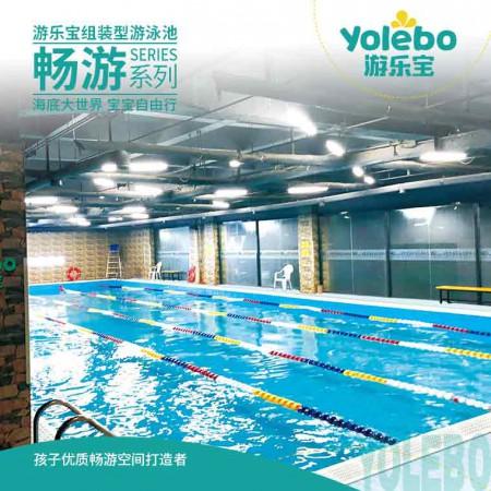 湖南大型拼接式恒温游泳池钢结构多功能拆装式恒温游泳池