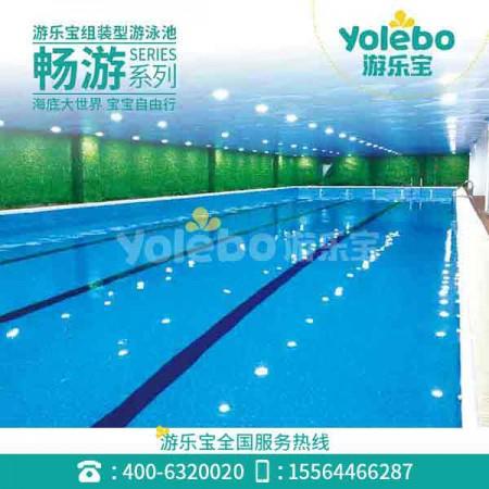 吉林健身房钢结构组装池室内游泳设备拼接无边际家用游泳池